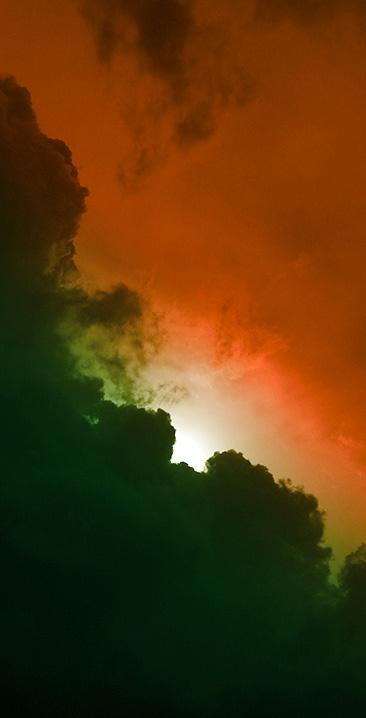 tricolour clouds