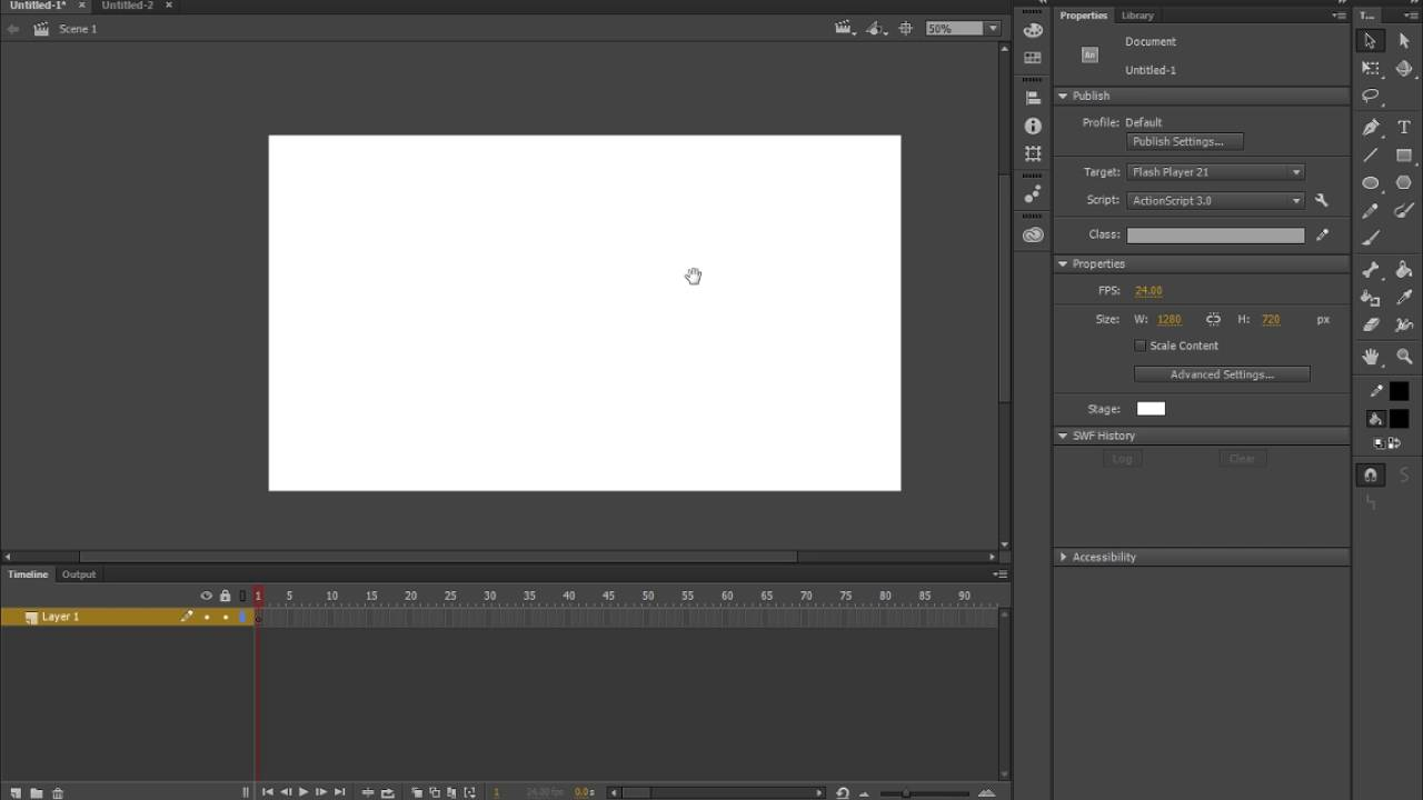 2 Adobe animate interface