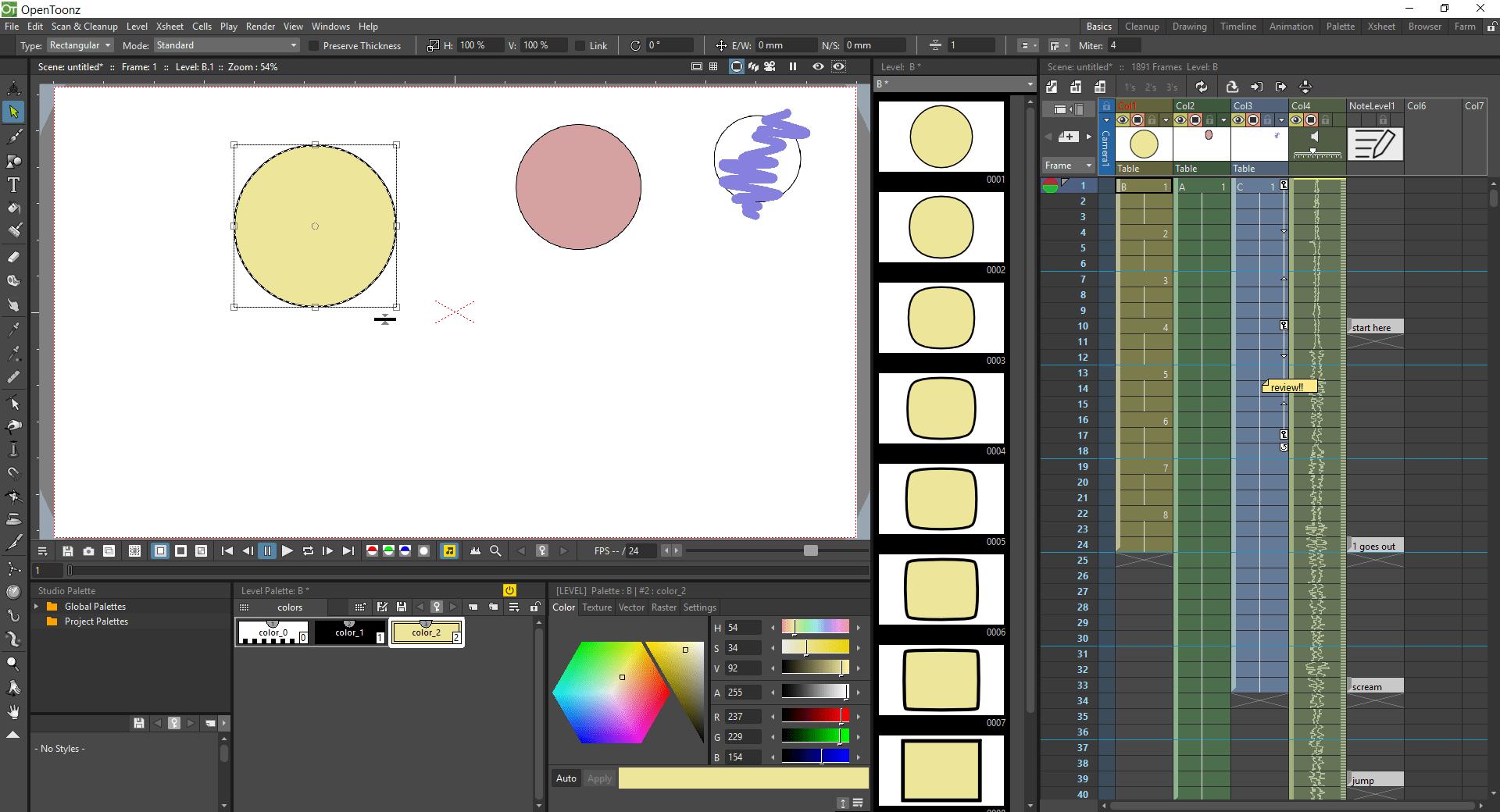 8 opentoonz interface