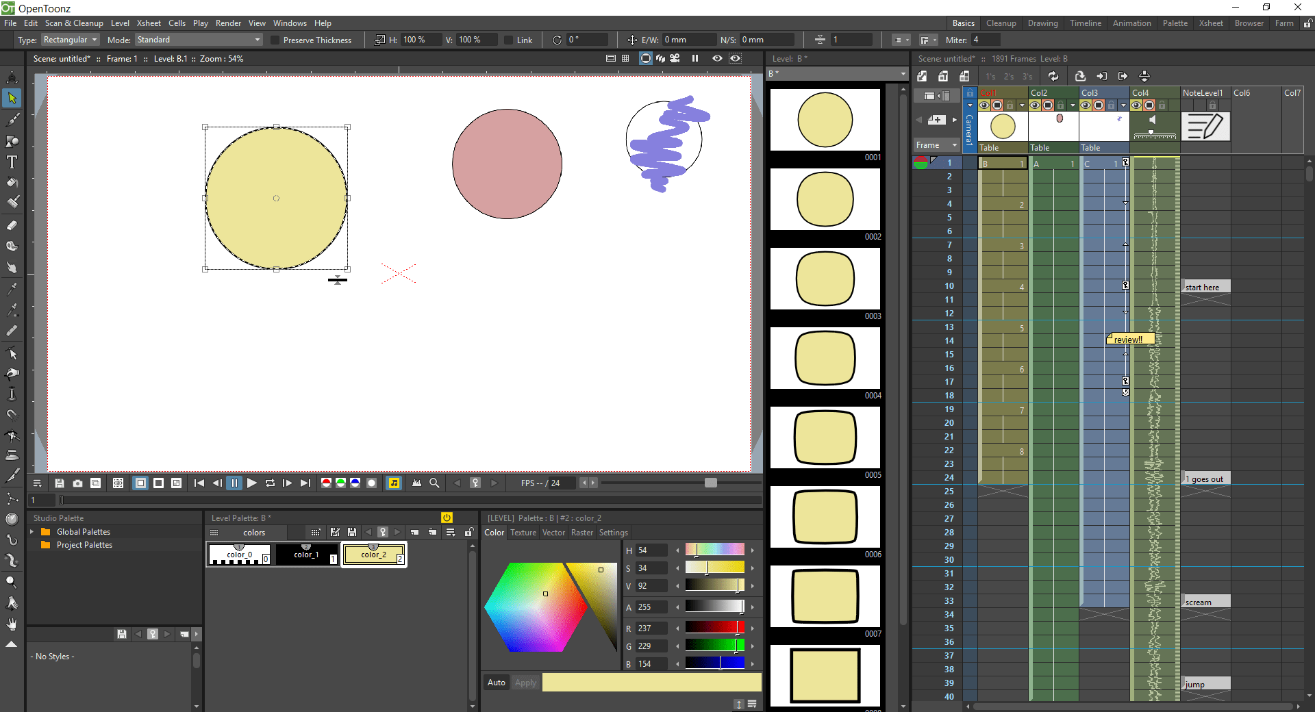 8 opentoonz interface