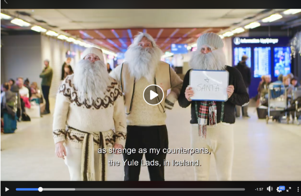 What does Santa think of the Yule Lads? Meeting at Keflavik