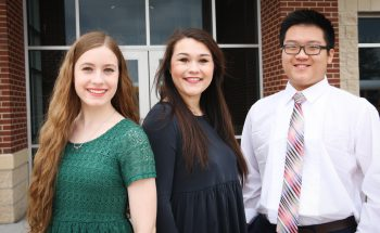 All-State First Chairs: Brittany Brewer, Meredith Marcum and Stephen Zheng