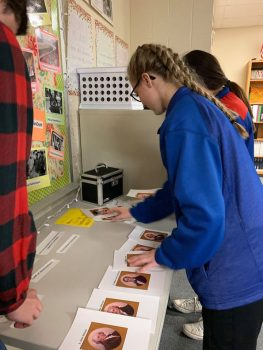 Student using new grant