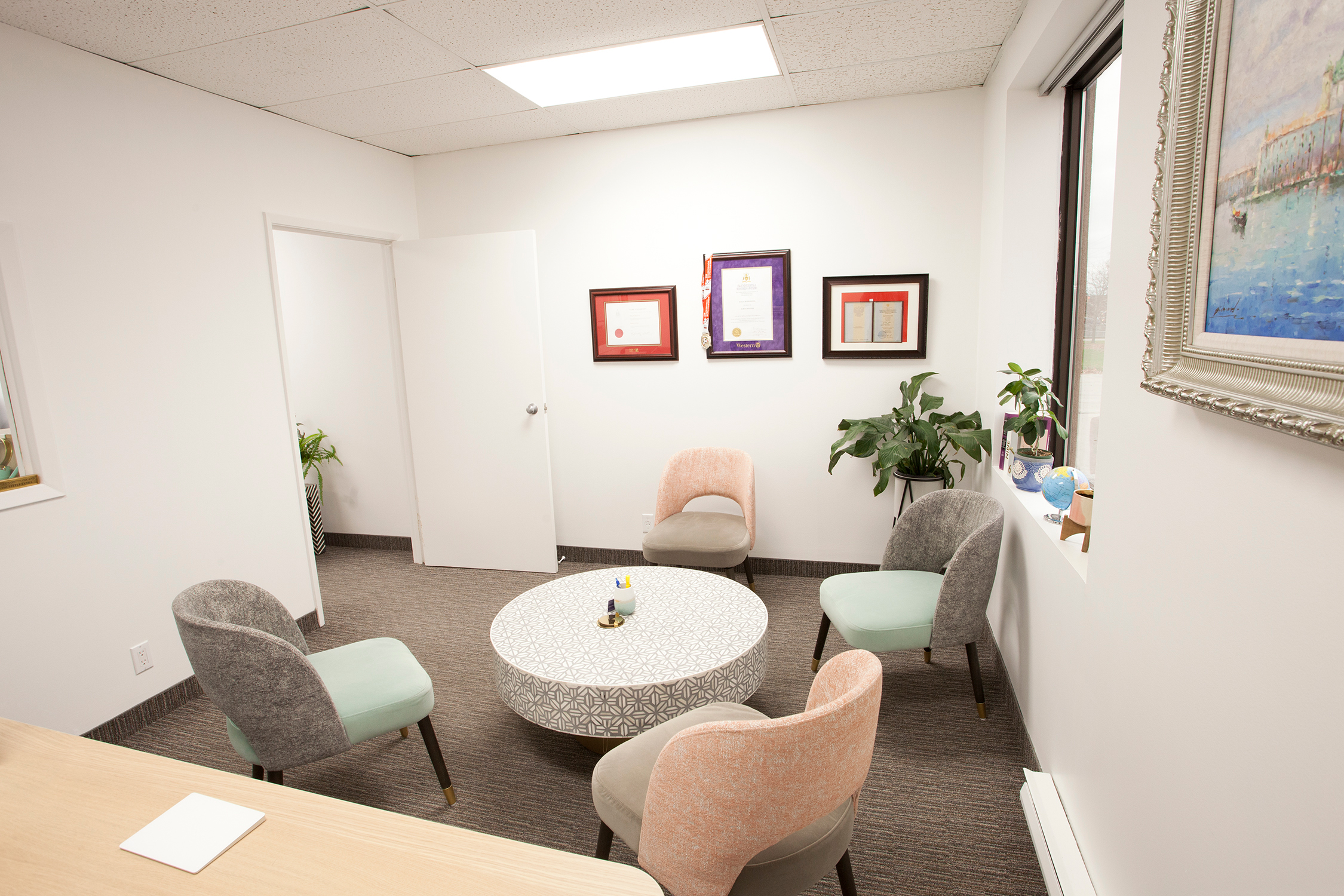 LOYR Law Office Inside design pastel colors broad view