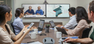 collaboration, noslar ti, office, meeting room, wireless connections, tablet, meeting, video call, conference call