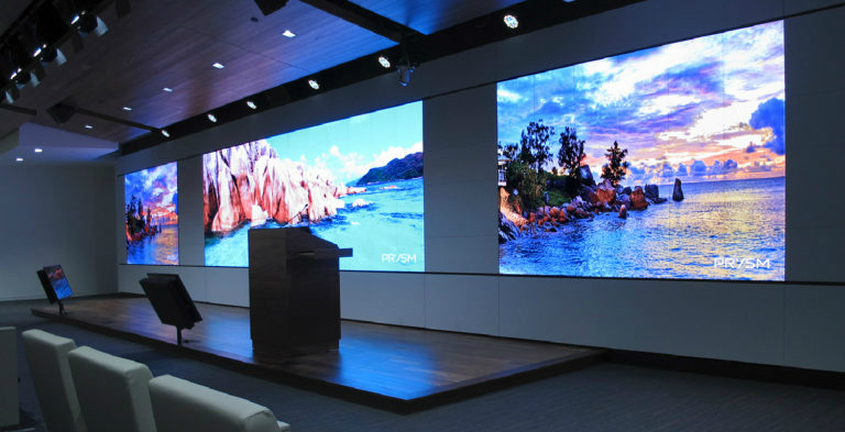video wall, noslar ti, wall mounted, monitor, video, display, waiting room, corporate, office, lobby