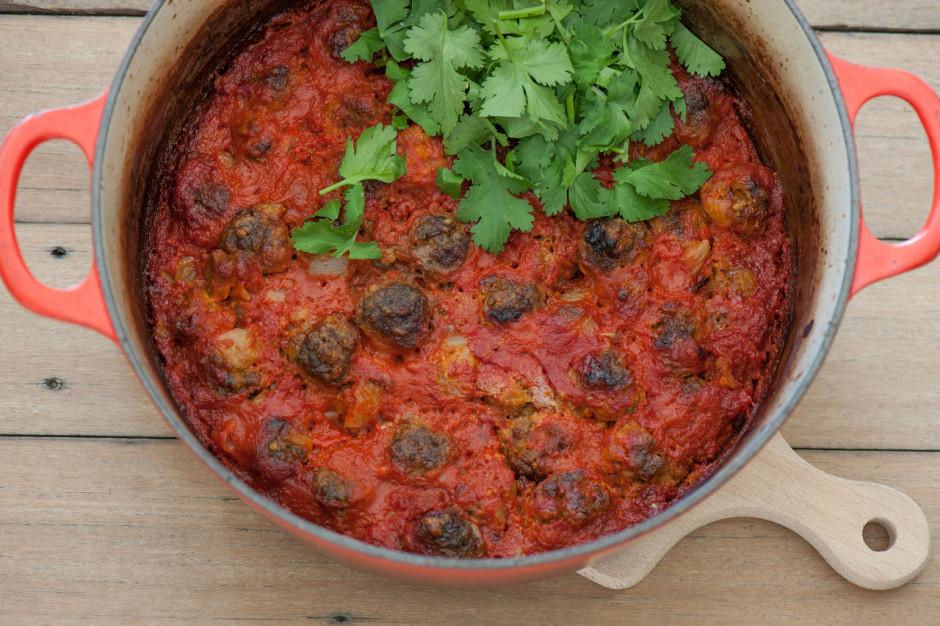 green chile meatballas