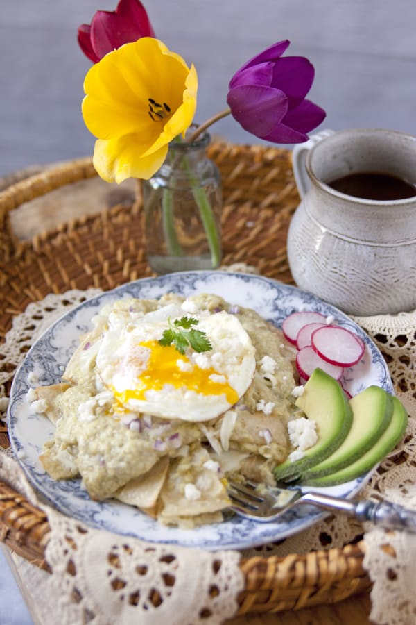 green chile chilaguiles