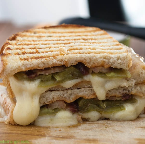 hatch chile bacon grilled cheese