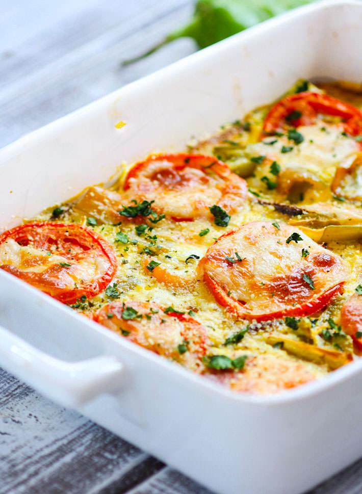 green chile tomato casserole