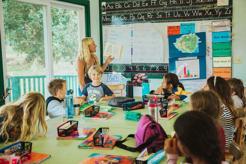 Small group instruction at Kauai Homeschool Now