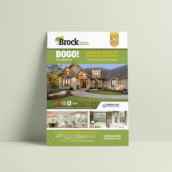 Brock Windows & Door Print Ad