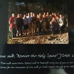 Bill and everyone who was Baptized by Willie Robertson at Bill's Lake