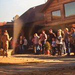 Willie Robertson preaching at Bill's Lodge prior to the Baptism
