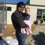 Bill and his youngest granddaughter Emelia Dickerson