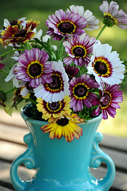 Painted Daisy Vase