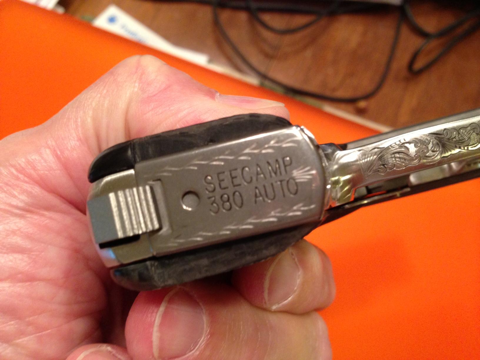 Custom Engraved Seecamp  380 Cal  | WSS Firearms