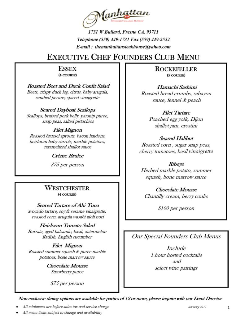 2017 Classics 5th Avenue and Founders club apps. PG 3