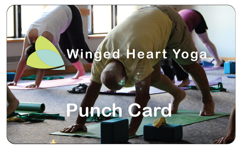 Winged Heart Class Punch Card