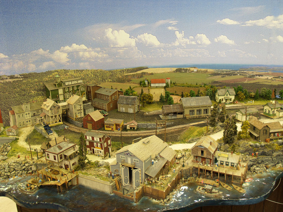 PRINCE EDWARD ISLAND_HARBOR SCENE_MODEL TRAIN LAYOUT
