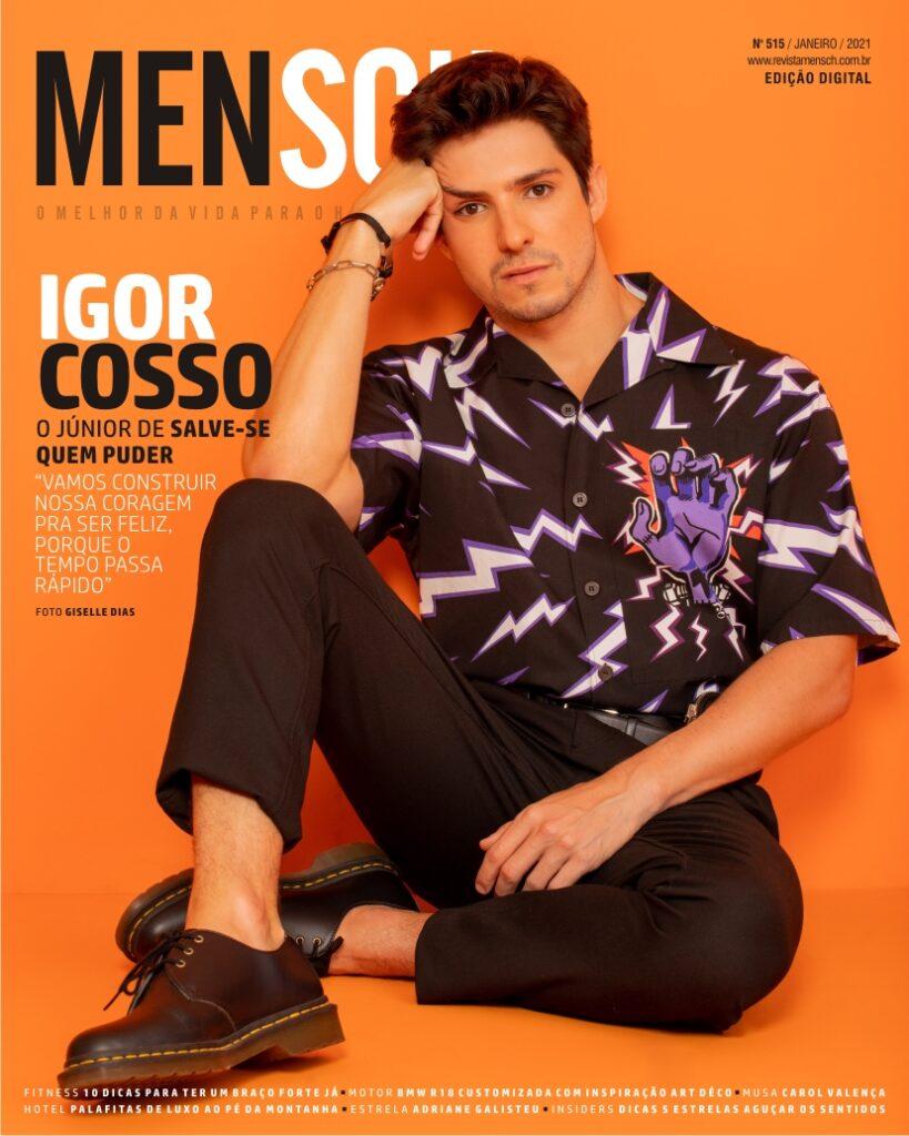 Igor Cosso na capa da revista Mensch. (Foto: Divulgação / Giselle Dias)