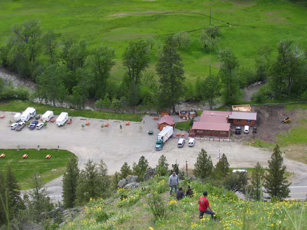 Aerial view of North Fork Idaho campground