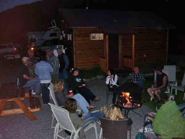 Gather around the community firepit