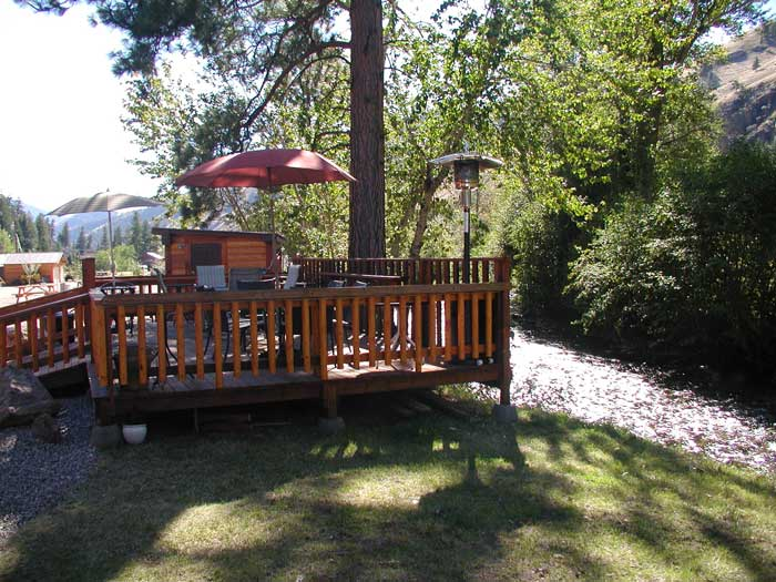 Waters Edge river side deck