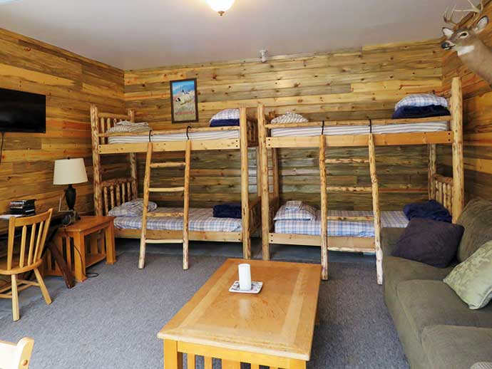 Comfortable bunk beds