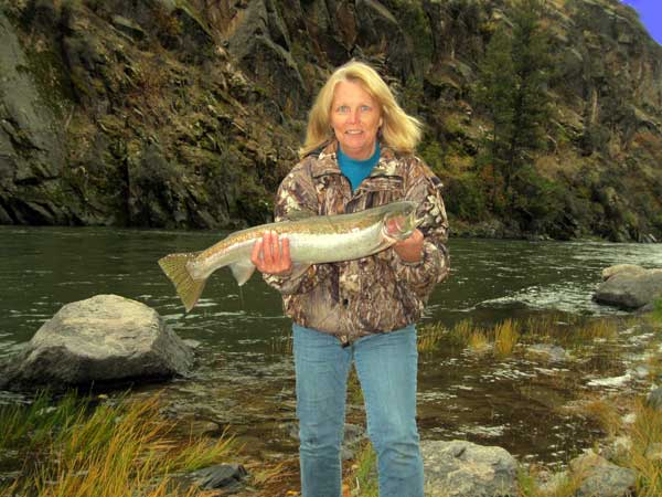 Fishing for Steelhead, trout and salmon is minutes away from Waters Edge RV Park