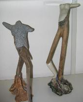 wood and clay figurines
