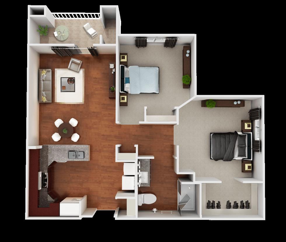 Senior Living Floor Plan 1
