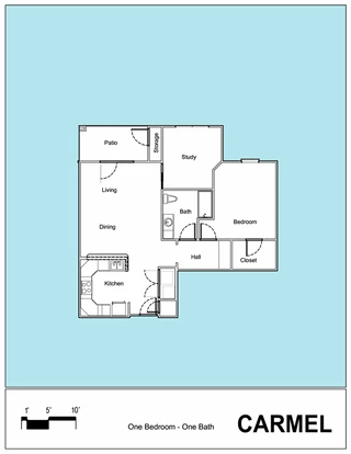 Senior Living Floor Plan 19