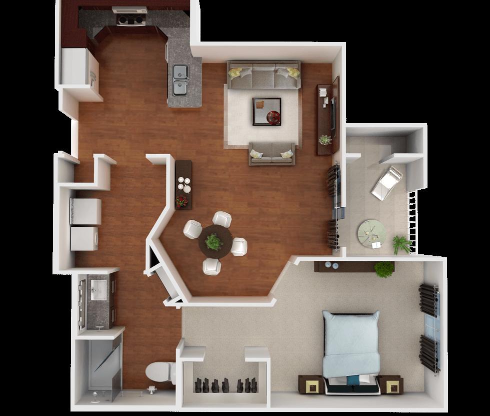 Senior Living Floor Plan 2
