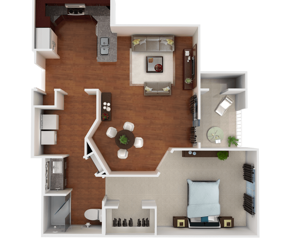 Senior Living Floor Plan 2
