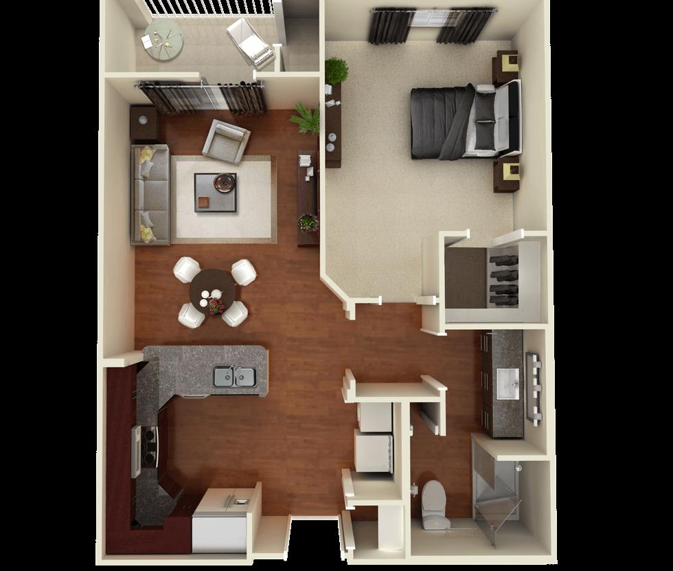 Senior Living Floor Plan 3