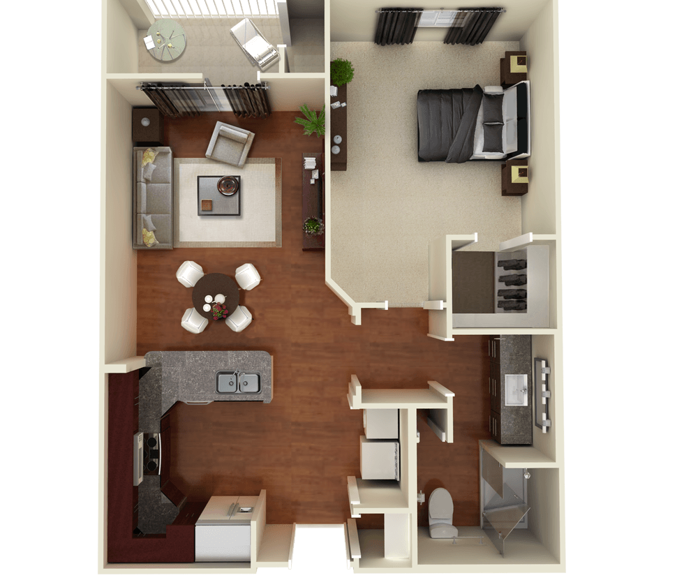 Senior Living Floor Plan 3
