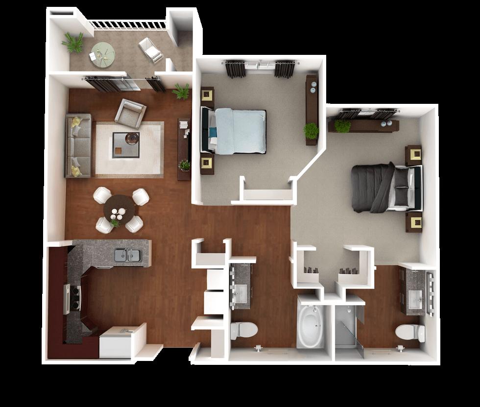 Senior Living Floor Plan 4