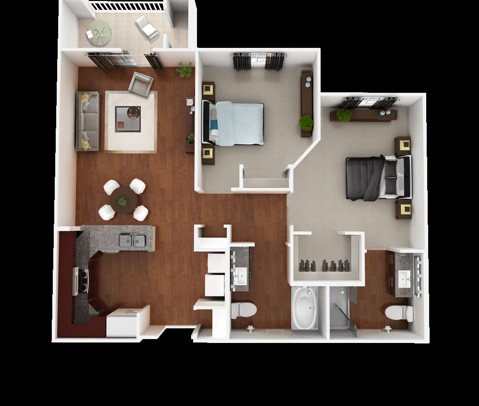Senior Living Floor Plan 5