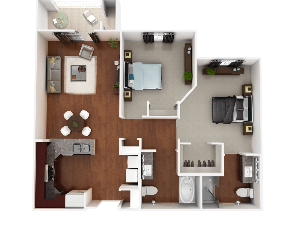 Senior Living Floor Plan 5