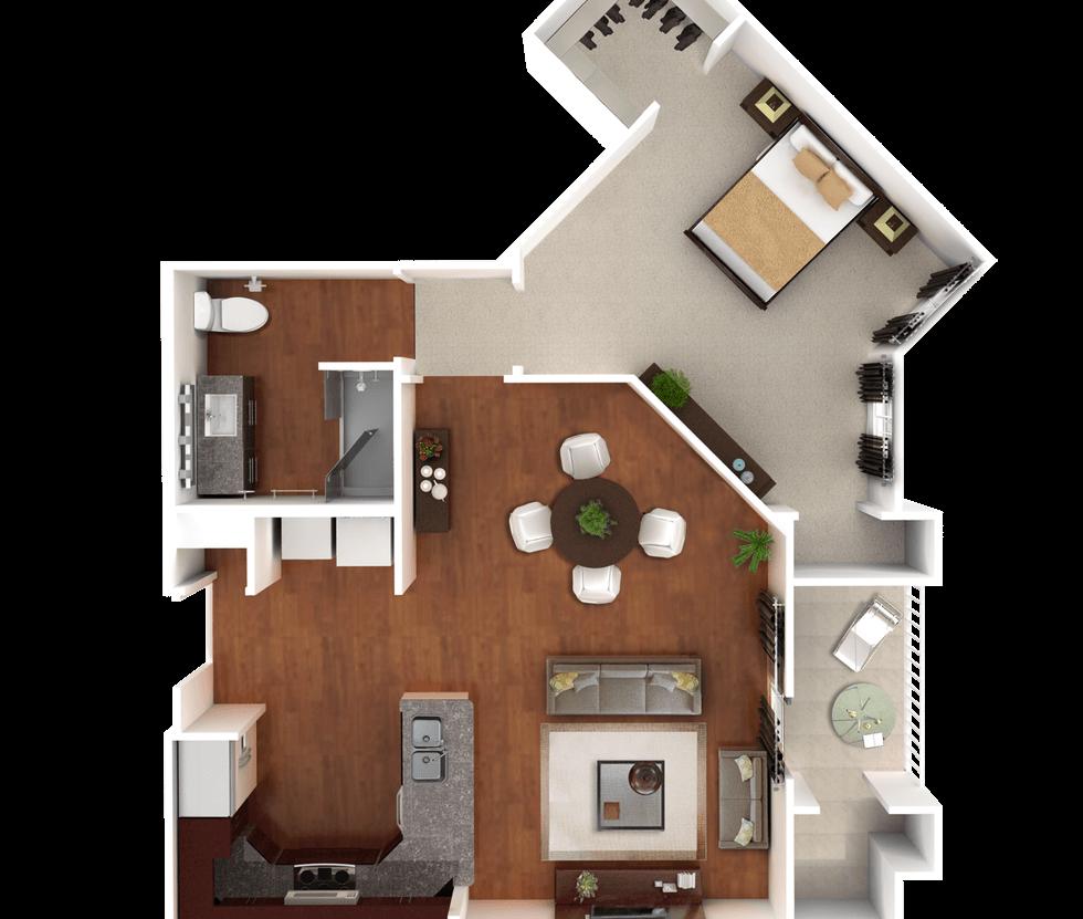 Senior Living Floor Plan 6