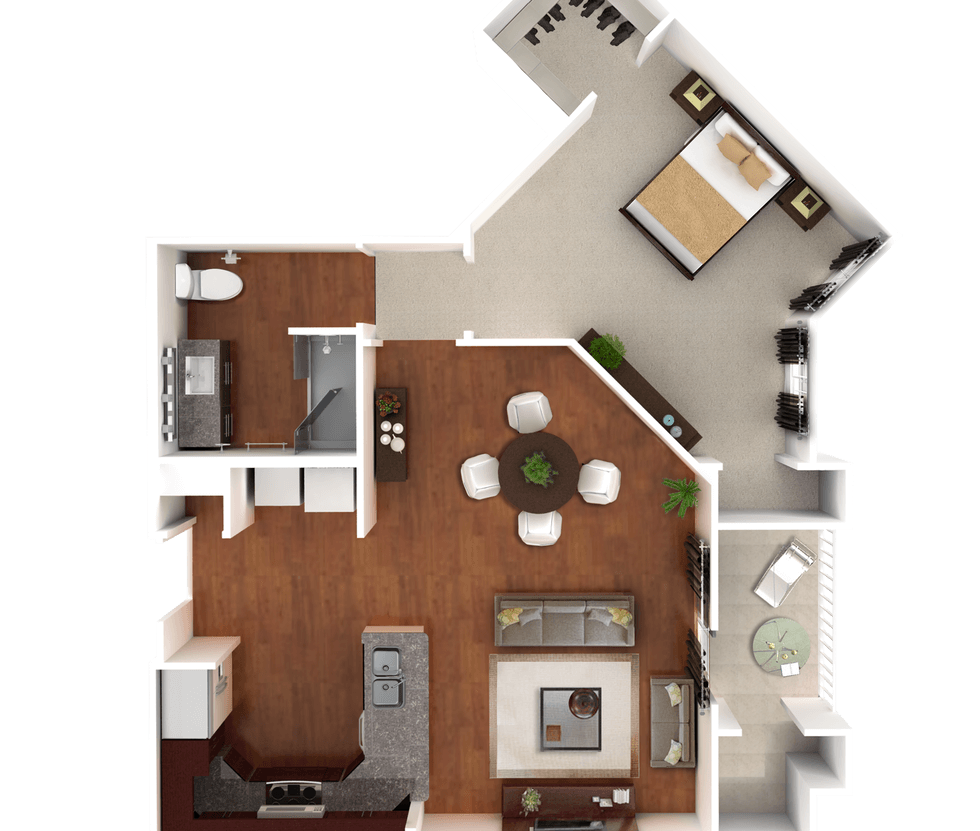 Senior Living Floor Plan 6