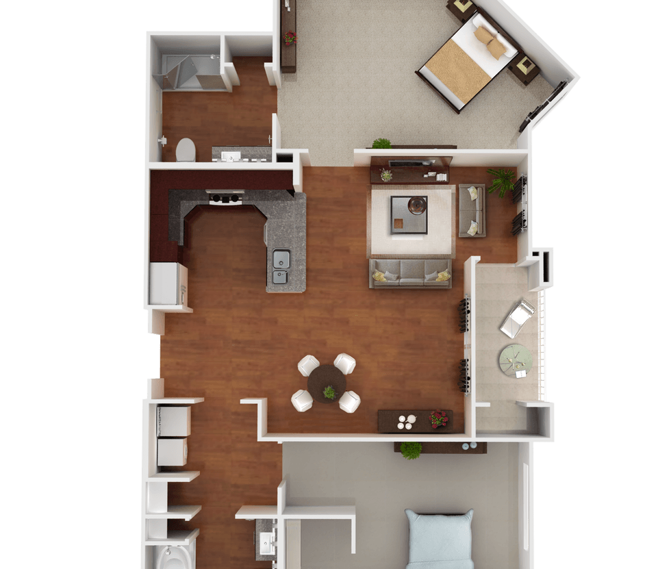 Senior Living Floor Plan 7
