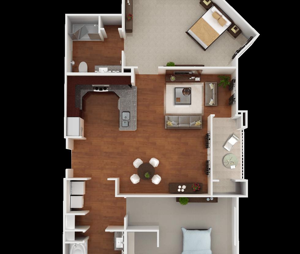 Senior Living Floor Plan 7