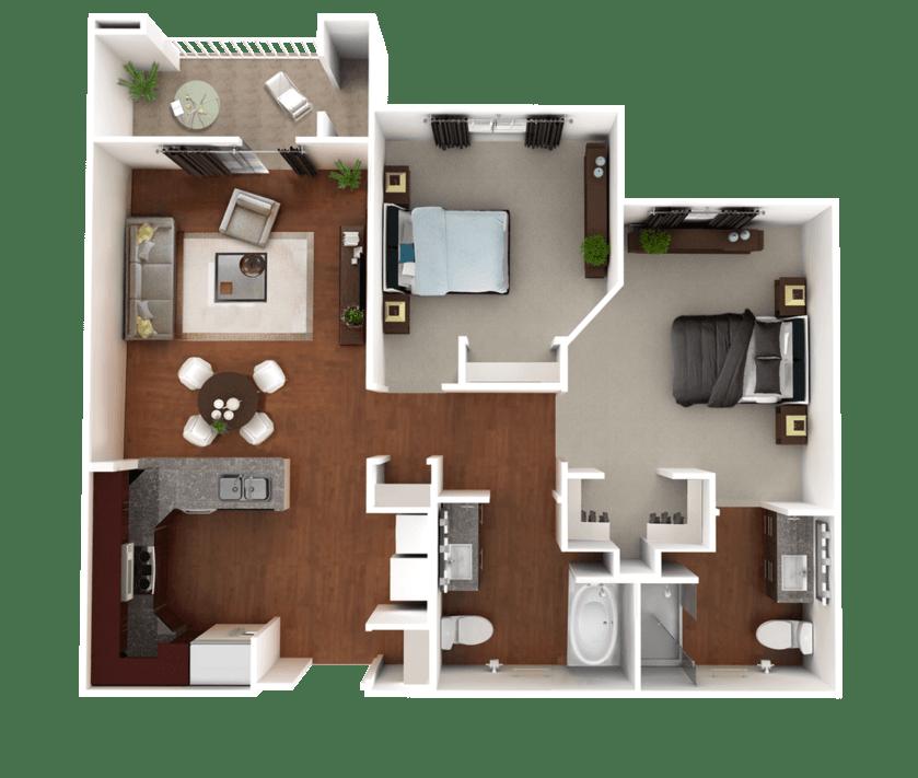 Senior Living Floorplan 4