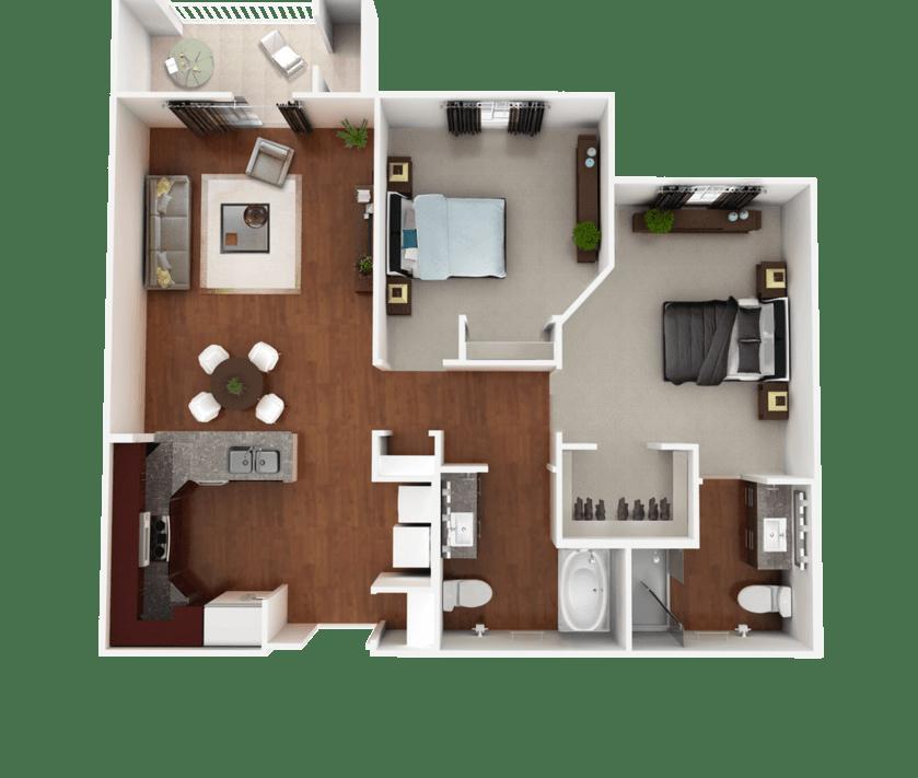 Senior Living Floorplan 5
