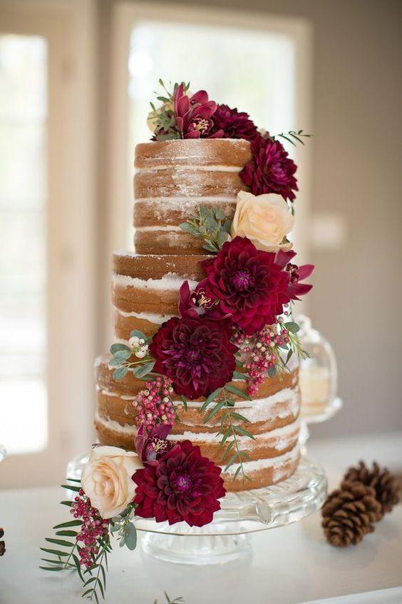 ideas naked cakes para bodas