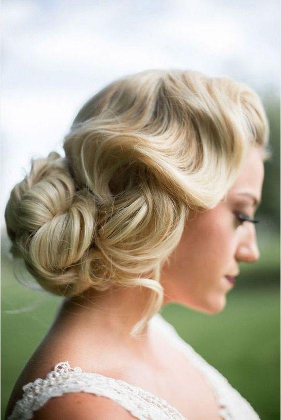 Peinados de novia vintage