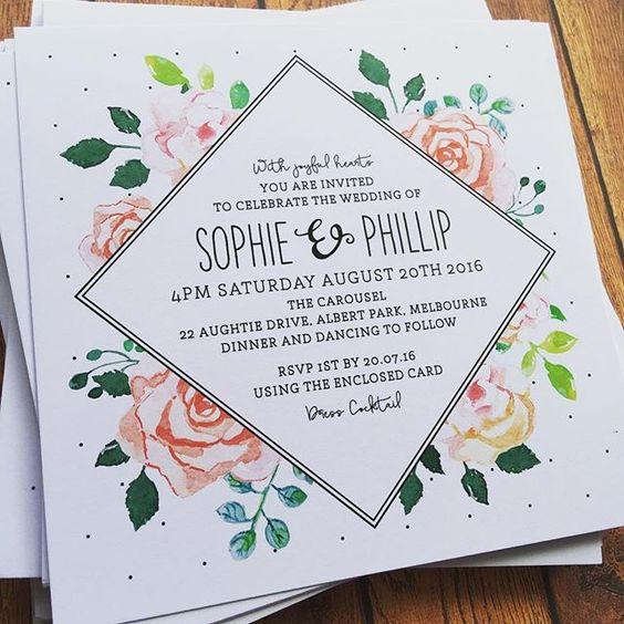 Invitaciones para una boda en primavera