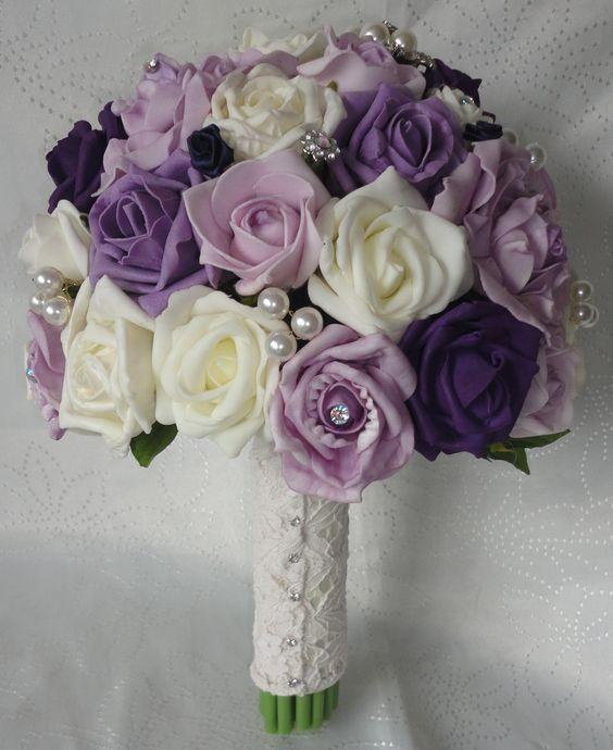 ramos de novia color violeta